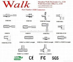 SMB connector for RG174, RG178, RG179, RG316 cable, SMB antenna connector