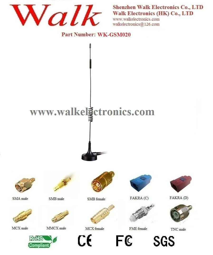 high gain GSM antenna, 9dbi gsm gprs antenna, Quad Band Antenna, magnet base 1