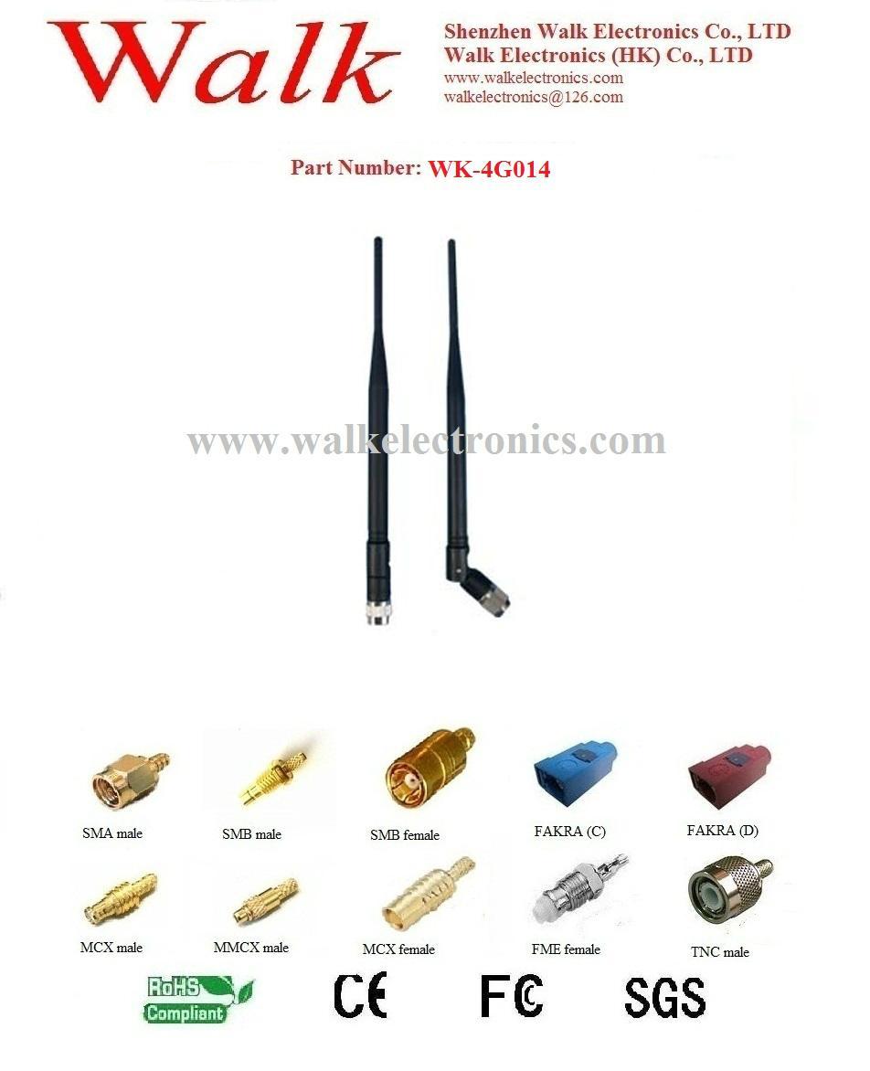high gain gsm 3g 4G LTE antenna, SMA 4g antenna, rotatable rubber antenna  1