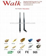 high gain gsm 3g 4G LTE antenna, SMA 4g antenna, rotatable rubber antenna