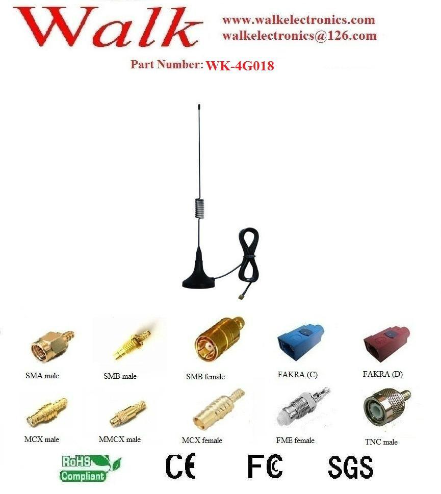 magnetic 3g LTE 4g antenna, lte 4g whip antenna, 4g LTE car antenna  1