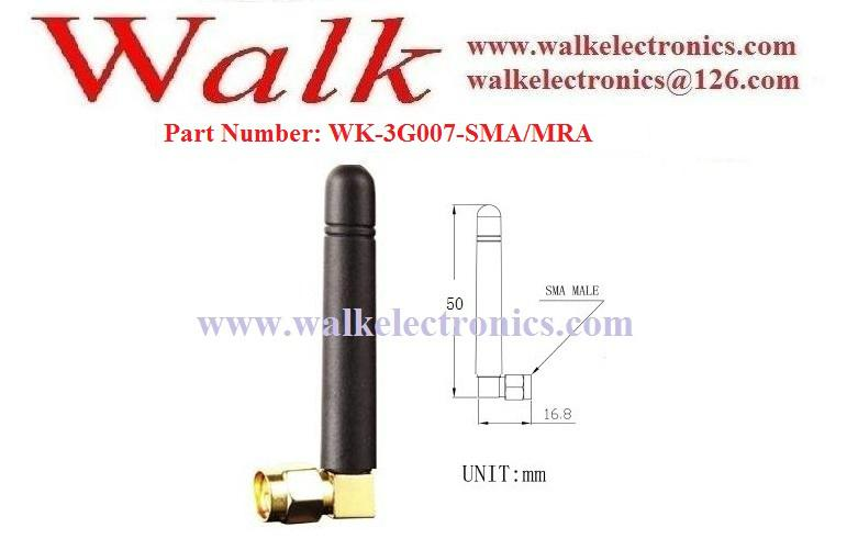short GSM 3G Antenna, 3g gsm rubber antenna, SMA male right angle 2