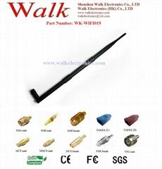 high gain wifi antenna, 2.4GHz rubber antenna, RP-SMA male straight