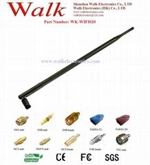 high gain wifi antenna, 2.4GHz rubber antenna, 12dbi, RP-SMA male straight