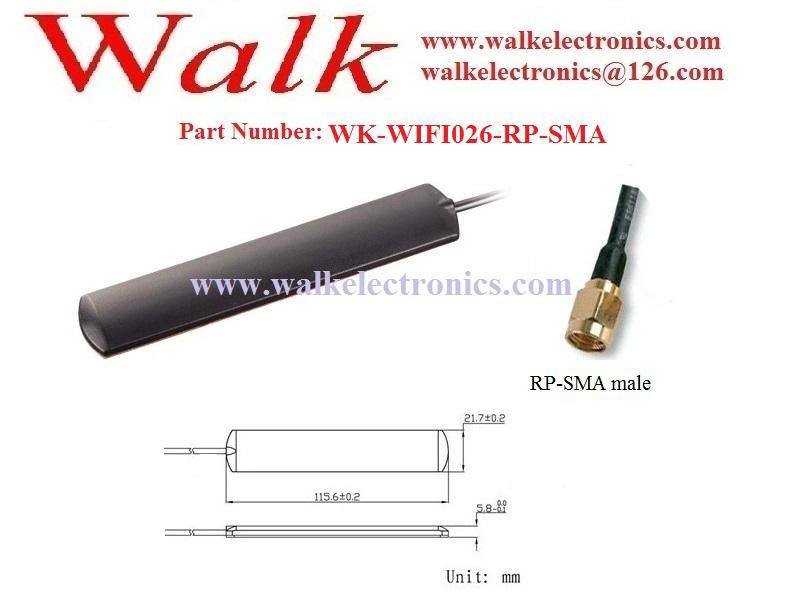 wifi patch antenna, glass mount 2.4GHz wifi antenna, adhesive mount 2