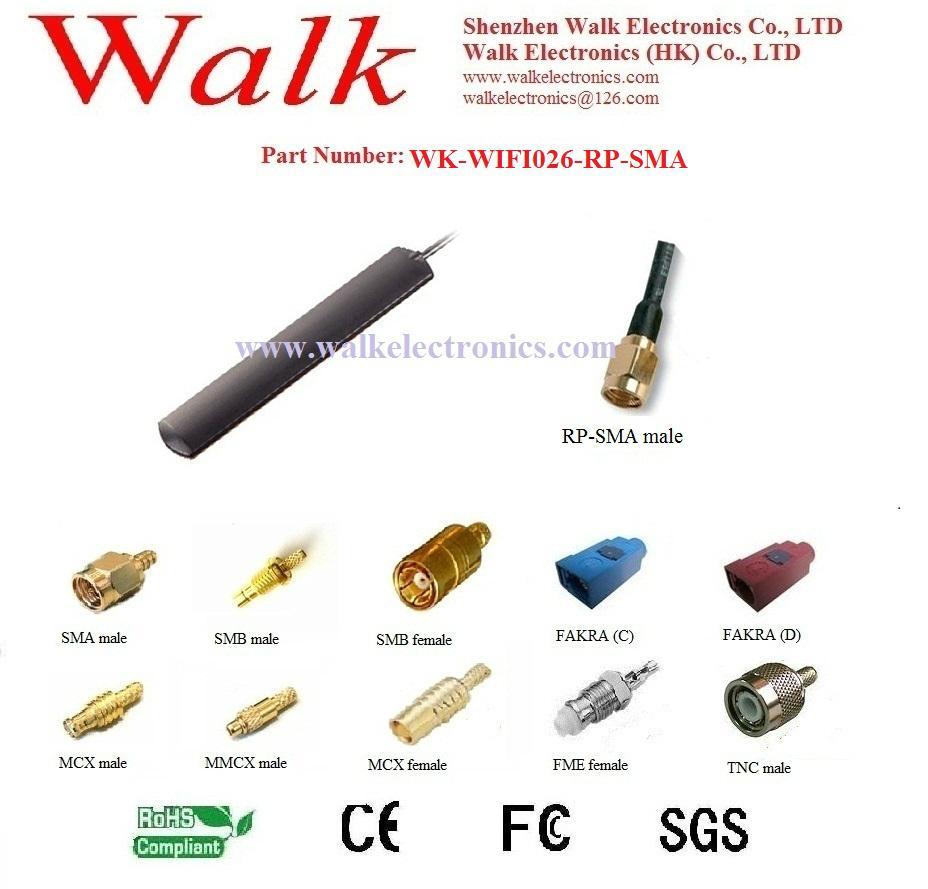 wifi patch antenna, glass mount 2.4GHz wifi antenna, adhesive mount 1