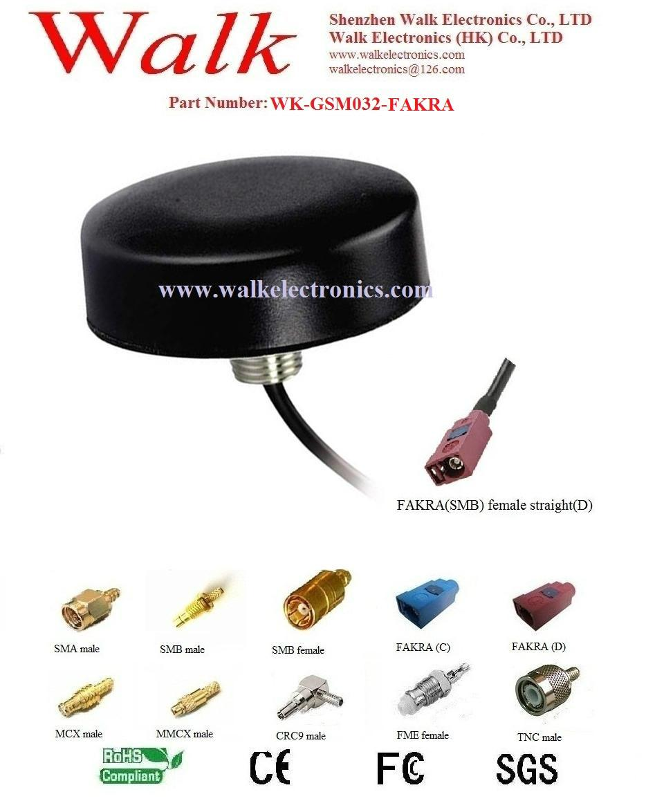 small size roof mount GSM 3G car Antenna, waterproof, FAKRA connector