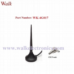 CRC9 male angle magnetic mount gsm 3g LTE 4g car antenna multi band whip antenna