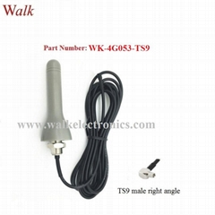 TS9 male angle small size outdoor use screw mount GSM 3G 4g lte car antenna