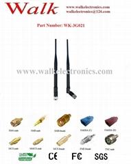7.0dbi high gain flexible GSM 3G rubber Antenna sma male foldable antenna