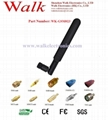5.0dBi high gain SMA male straight foldable quad band gsm gprs rubber antenna