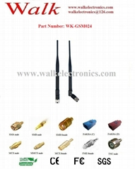 7.0dBi high gain SMA male straight foldable gsm gprs rubber antenna
