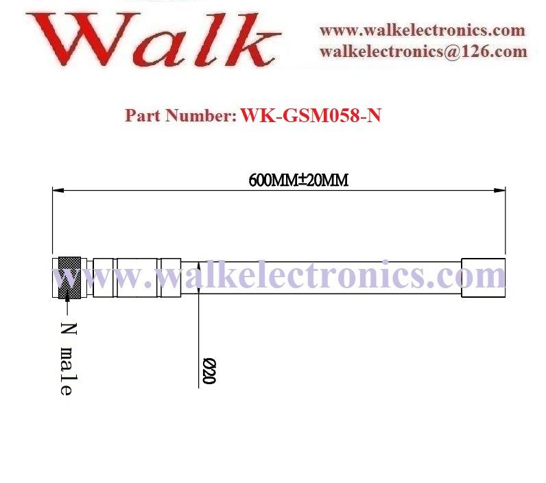 60cm 9dbi high gain  N male weather proof bracket mount gsm fiber glass antenna 2