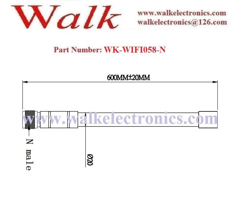 12dbi high gain omni direction weather proof fiber glass 2.4GHz wifi antenna 2