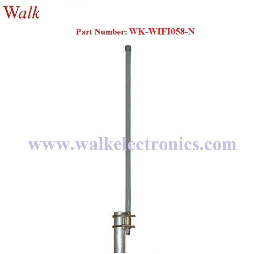 60cm length n male 12 dbi high gain waterproof wifi 2.4GHz fiber glass antenna