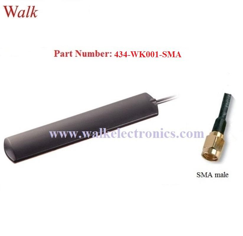 omni directional indoor use adhesive mount 434MHz patch antenna