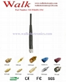 TNC male 915MHz UHF foldable rubber antenna elbow TNC 915MHz RFID rubber antenna