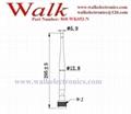 295mm length 7.0dBi high gain N male foldable 868MHz UHF RFID antenna 2