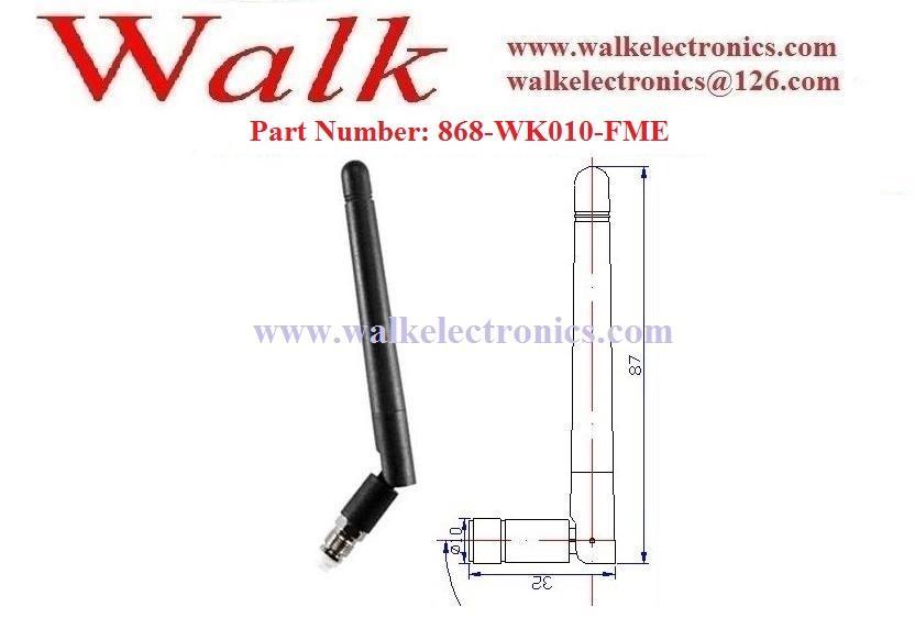 FME female 868MHz flexible rubber Antenna elbow 868MHz UHF stubby antenna 2