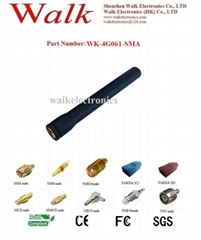 waterproof 80mm length SMA male straight gsm 3g 4G LTE rubber stubby antenna