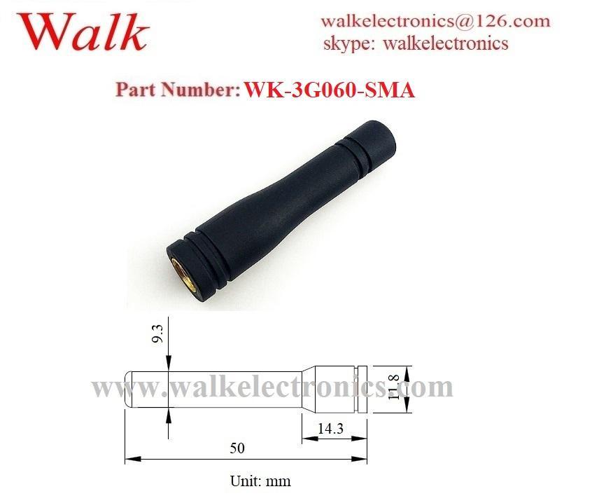 sma male waterproof 50mm length gprs gsm 3g stubby antenna multiband sma antenna 2