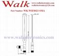 5.0dbi RP-SMA male high gain foldable 2.4GHz wifi rubber stubby antenna 2