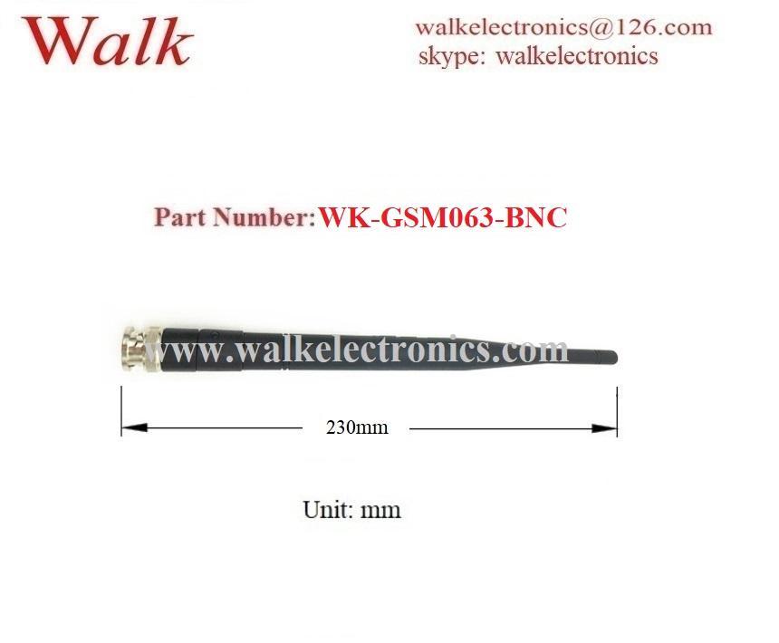 230mm length 7.0dBi high gain BNC male straight foldable gsm gprs rubber antenna 2