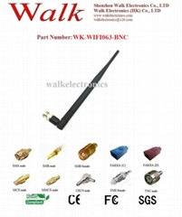 7.0dbi BNC male high gain foldable 2.4GHz wifi rubber stubby antenna