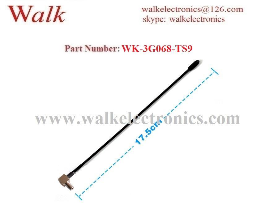 omni directional 5dBi TS9 male angle multiband antenna flexible TS9 3g antenna 2