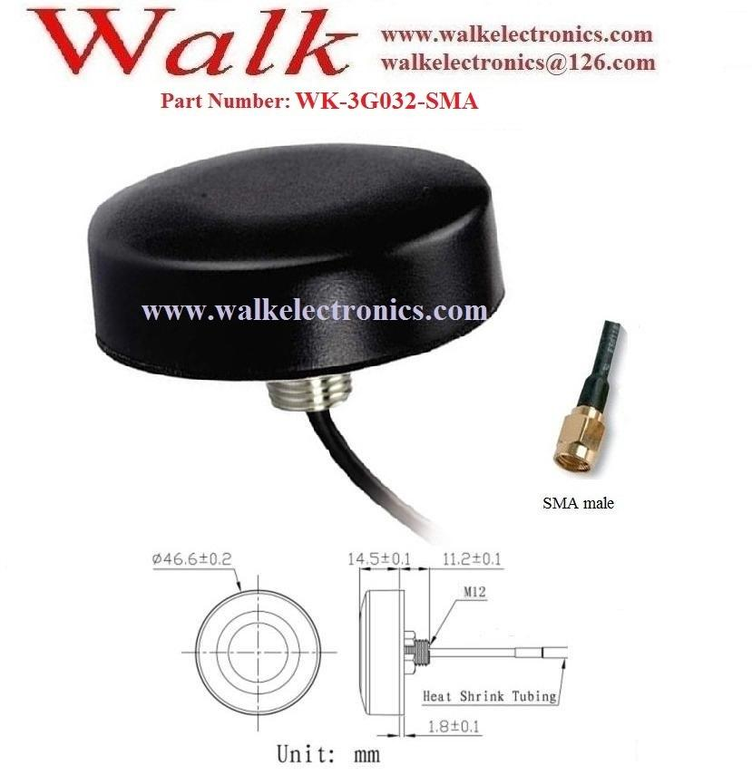 small size waterproof outdoor GSM 3G Antenna, screw mount, sma male straight  2