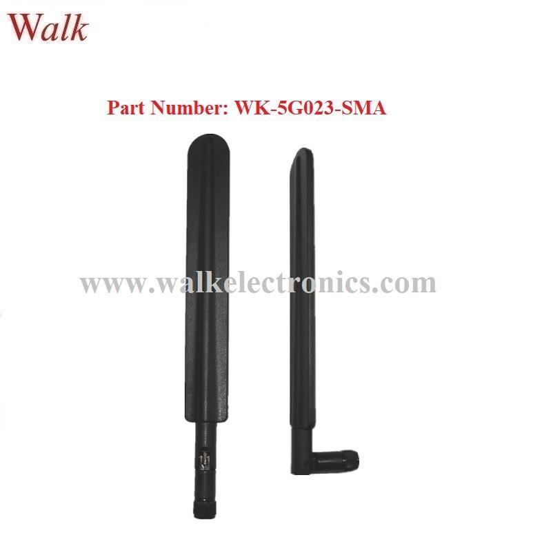 600-6000MHz wide range 2g 3g 4g 5g multi band flexible SMA male stubby antenna 1