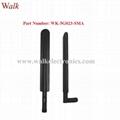 600-6000MHz wide range 2g 3g 4g 5g multi band flexible SMA male stubby antenna