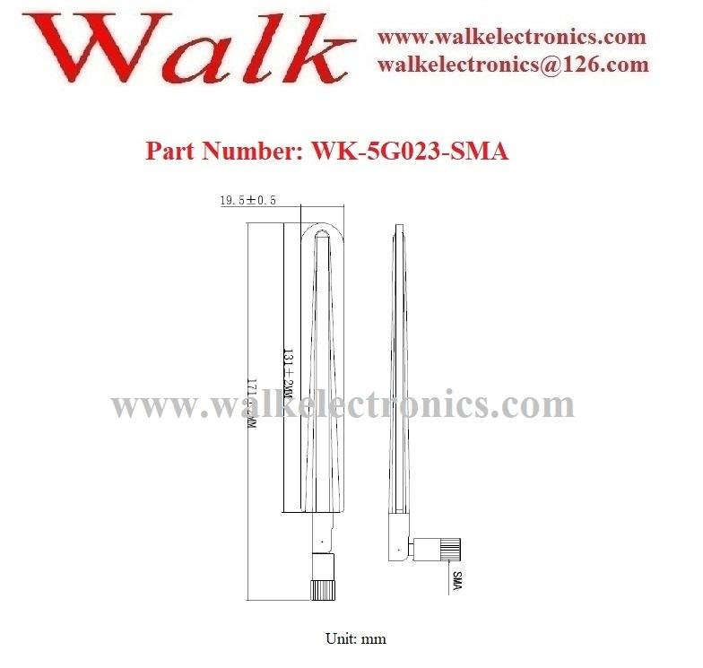 600-6000MHz wide range 2g 3g 4g 5g multi band flexible SMA male stubby antenna 2