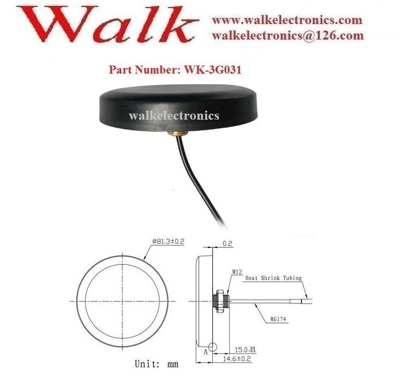 sma male IP67 waterproof outdoor use  screw mount high gain gprs GSM 3G antenna 2