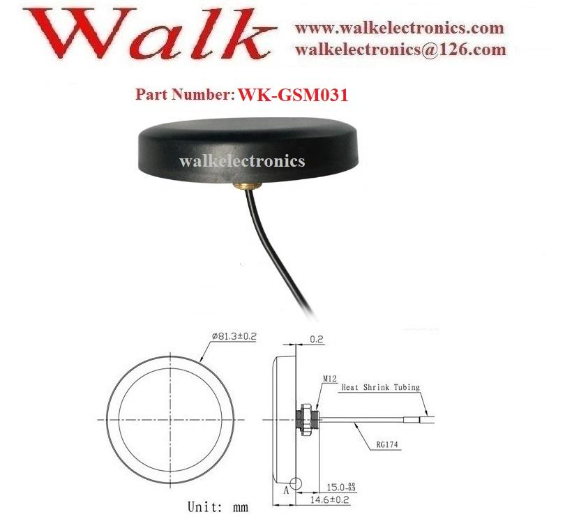 high gain IP67 waterproof  outdoor use FME female screw mount 3g gsm antenna 2
