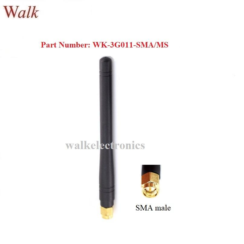 SMA male straight 115mm gsm 3g rubber antenna 2g 3g multi band stubby antenna 1