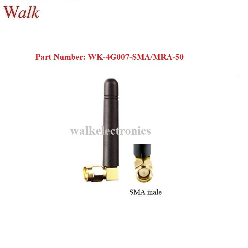 omni direction 50mm length small size sma male right angle 4G LTE rubber antenna 1