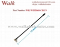 omni directional 5dBi high gain CRC9 male right angle 2.4GHz WIFI aerial 2