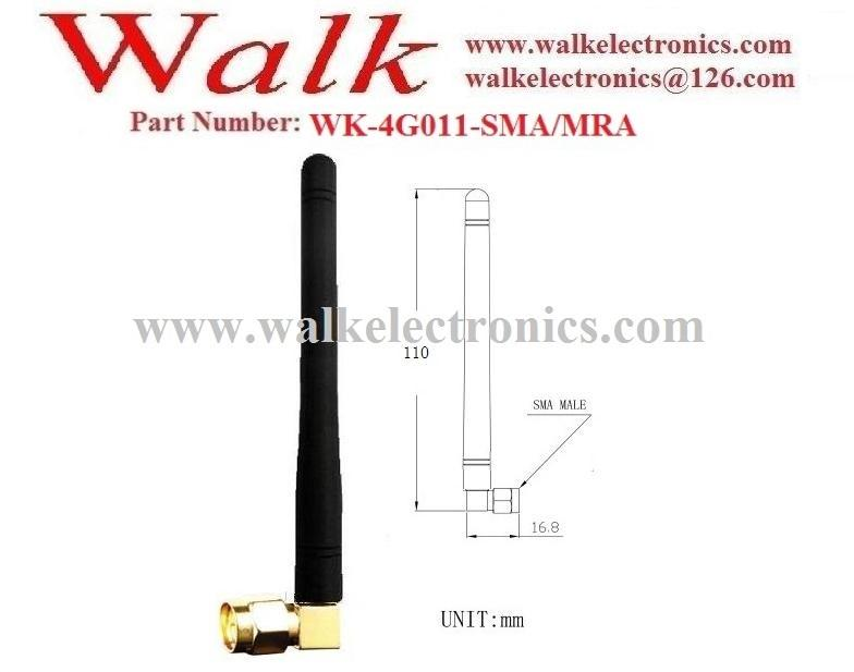 110mm high omni directional SMA male angle gsm 3g 4G LTE rubber sma antenna  2