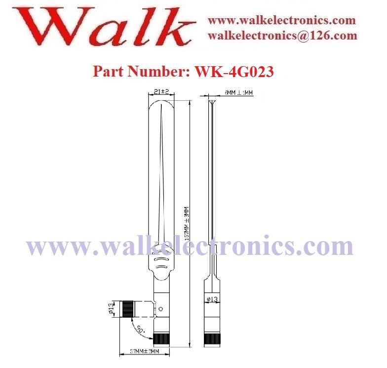 160mm 5dbi high gain omni directional SMA flexible gsm 3g 4g lte rubber antenna 2