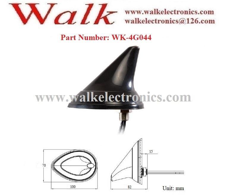 shark fin waterproof outdoor use screw mount GSM 3G 4g lte car Antenna 2