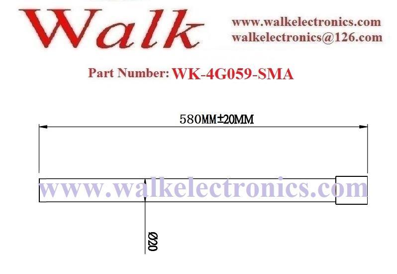 58cm 9dbi high gain SMA male weatherproof gsm 3g 4G LTE fiber glass antenna 2