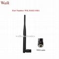 7.0dbi high gain flexible GSM 3G rubber aerial sma male foldable antenna