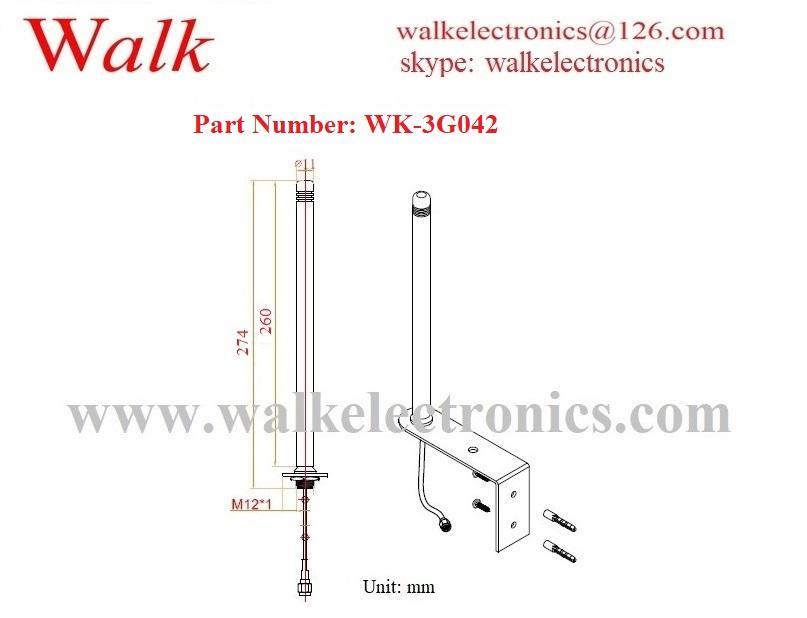 5dbi high gain outdoor bracket screw wall mount gprs gsm 2g 3g antenna 2