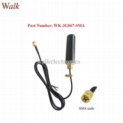 small size waterproof outdoor use screw mount gprs gsm 2g 3G car rubber antenna