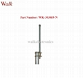 N male 35cm 6.0dbi high gain outdoor use pole mount gsm 3g glass fiber antenna