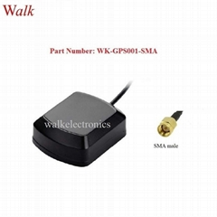 magnet mount SMA male IP67 waterproof outdoor high gain active GPS car antenna (Hot Product - 1*)
