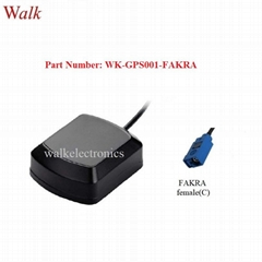 waterproof outdoor high gain FAKRA female Magnetic or adhesive mount GPS antenna