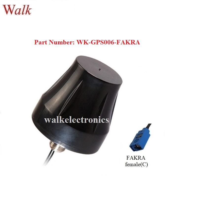 fakra female external screw mount high gain waterproof active gps antenna 1