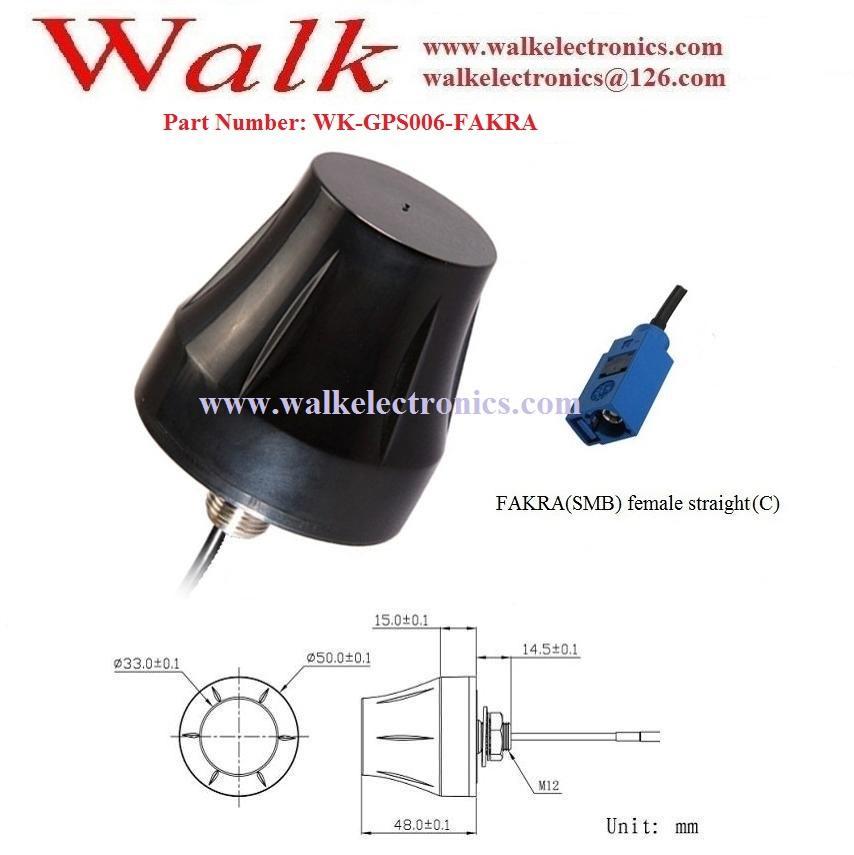 fakra female external screw mount high gain waterproof active gps antenna 2